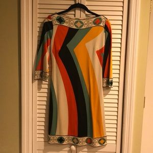 Ali Ro Multi-Color Mod Silk Dress
